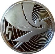 New Zealand 5 Cents 1990 Proof KM# 72a Decimal Coins coin reverse