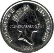 New Zealand 5 Cents 1990 Sets only KM# 72 Decimal Coins coin obverse