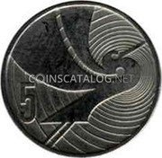New Zealand 5 Cents 1990 Sets only KM# 72 Decimal Coins coin reverse