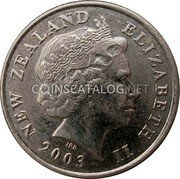 New Zealand 5 Cents 2003 (c) Sets only KM# 116 Decimal Coins coin obverse
