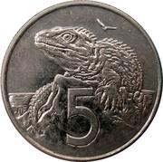 New Zealand 5 Cents Elizabeth II (4th portrait) 2003 (c) Sets only KM# 116 5 JB coin reverse