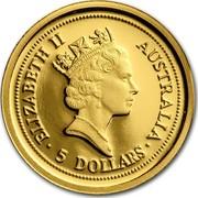 Australia 5 Dollars The Australian Nugget 1998 ELIZABETH II AUSTRALIA 5 DOLLARS coin obverse