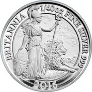 UK 5 Pence (Britannia) BRITANNIA 1/40 OZ FINE SILVER 999 2016 coin reverse