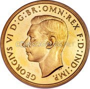 UK 5 Pounds George VI 1937 Proof KM# 861 coin obverse