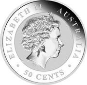 Australia 50 Cents Australian Kangaroo (Colorized) 2016 ELIZABETH II AUSTRALIA 50 CENTS IRB coin obverse