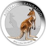 Australia 50 Cents Australian Kangaroo (Colorized) 2016 AUSTRALIAN KANGAROO 2016 1/2 OZ 999 SILVER P IJ coin reverse