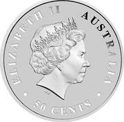 Australia 50 Cents Australian Saltwater Crocodile 2017 ELIZABETH II AUSTRALIA 50 CENTS IRB coin obverse