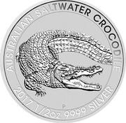 Australia 50 Cents Australian Saltwater Crocodile 2017 AUSTRALIAN SALTWATER CROCODILE 2017 1/2 OZ 9999 SILVER P NM coin reverse