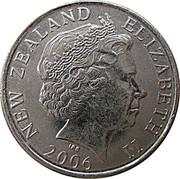 New Zealand 50 Cents Elizabeth II 2006 (c) Sets only KM# 119 NEW ZEALAND ELIZABETH II *YEAR* IRB coin obverse
