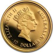 Australia 50 Dollars The Australian Nugget 1998 ELIZABETH II AUSTRALIA 50 DOLLARS coin obverse