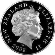 New Zealand 50 Endeavour 2008 (l) Proof KM# 119a NEW ZEALAND ELIZABETH II *YEAR* IRB coin obverse