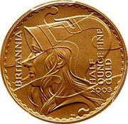 UK 50 Pounds Britannia 2003 British Royal Mint KM# 1042 BRITANNIA HALF OUNCE FINE GOLD 2003 PN coin reverse