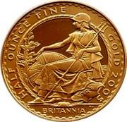 UK 50 Pounds Britannia 2005 British Royal Mint Proof KM# 1070 HALF OUNCE FINE GOLD 2005 BRITANNIA PN coin reverse
