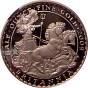 UK 50 Pounds Britannia 2009 Proof KM# 1129 HALF'OUNCE'FINE'GOLD'2009 BRITANNIA coin reverse