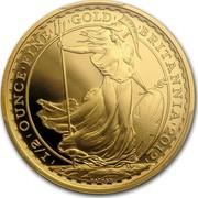 UK 50 Pounds Britannia 2013 British Royal Mint Proof KM# 1272 1/2 OZ OUNCE FINE GOLD BRITANNIA 2012 coin reverse