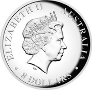 Australia 8 Dollars Australian Kangaroo 2017 ELIZABETH II AUSTRALIA 8 DOLLARS IRB coin obverse