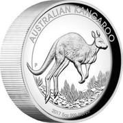 Australia 8 Dollars Australian Kangaroo 2017 AUSTRALIAN KANGAROO 2017 5 OZ 999 SILVER P JM coin reverse