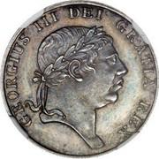 UK 9 Pence George III Bank Token - Pattern 1812 Proof Pattern KM# PnN68 GEORGIUS III DEI GRATIA REX coin obverse