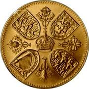 UK Five Shillings Coronation Crown 1953  coin reverse