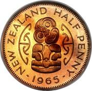 New Zealand Half Penny (Elizabeth II (1st portrait)) KM# 23.1 NEW ZEALAND HALF PENNY ∙ *YEAR* ∙ coin reverse