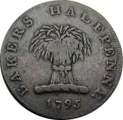 UK Halfpenny (Bakers Token) BAKERS HALFPENNY 1795 coin obverse