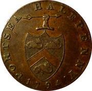 UK Halfpenny (Hampshire - Portsea) PORTSEA HALFPENNY∙ 1794 coin obverse