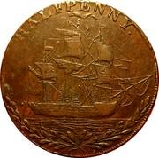 UK Halfpenny (Hampshire - Portsea) HALFPENNY coin reverse