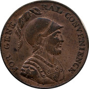 UK Halfpenny Middlesex - For General Convenience 1795  FOR GENE- RAL CONVENIENCE coin obverse