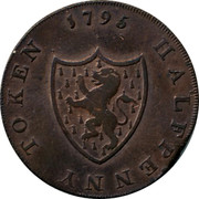 UK Halfpenny Middlesex - For General Convenience 1795  HALFPENNY TOKEN 1795 coin reverse