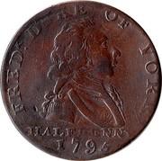 UK Halfpenny Middlesex - National Series / Duke of York 1795  FREDR DUKE OF YORK HALFPENNY 1795 coin obverse