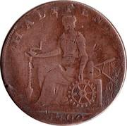 UK Halfpenny Middlesex - National Series / Duke of York 1795  HALFPENNY 1790 coin reverse