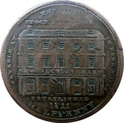 UK Halfpenny Middlesex - Thomas Wood 1811  PAYABLE AT THE OLD STOCK EXCHANGE IN BANK NOTES NEW AUCTION MART ESTABLISHED 1811 HALFPENNY coin reverse