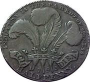 UK Halfpenny (Prince of Wales Token) INDUSTRY IS THE PARENT OF SUCCESS ICH DIEN 1795 HALFPENNY coin reverse