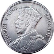 New Zealand One Florin George V 1933 KM# 4 GEORGE V KING EMPEROR coin obverse