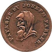 UK One Penny Staffordshire - Walsall / Joseph Parker 1811  PAYABLE BY JOSEPH PARKER. coin obverse