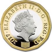 UK One Pound Nations of the Crown 2017 2017 ELIZABETH II D G REG F D J.C coin obverse