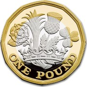 UK One Pound Nations of the Crown 2017 ONE POUND DP coin reverse