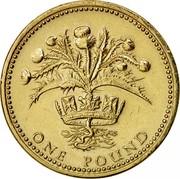 UK One Pound Scottish Thistle 1984 Proof KM# 934 ONE POUND coin reverse