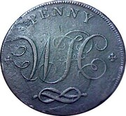 UK Penny Stafford - William Horton 1801  PENNY coin reverse