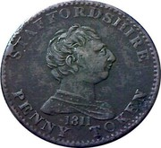 UK Penny Staffordshire - To Facilitate Trade 1811  STAFFORDSHIRE 1811 PENNY TOKEN coin obverse