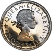 New Zealand Sixpence KM# 26.1 Pre-Decimal coins + QUEEN∙ELIZABETH∙THE∙SECOND coin obverse