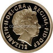 UK Sovereign 2005 KM# 1065 British Royal Mint Sovereign Coins ELIZABETH·II·DEI·GRA REGINA·FID·DEF IRB coin obverse