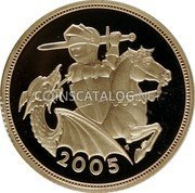 UK Sovereign 2005 KM# 1065 British Royal Mint Sovereign Coins 2005 coin reverse