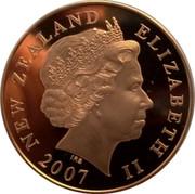 New Zealand Ten Dollars Centenary of Scouting 2007 (l) Proof KM# 305 NEW ZEALAND ELIZABETH II 2007 IRB coin obverse