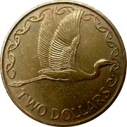 New Zealand Two Dollars Heron 2001 (c) Sets only KM# 121 TWO DOLLARS coin reverse
