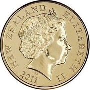 New Zealand Two Dollars (The kōtuku - white heron) KM# 121a NEW ZEALAND ELIZABETH II *YEAR* IRB coin obverse