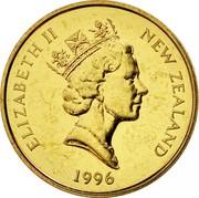 New Zealand Two Dollars White Heron 1996 (l) Proof KM# 79 ELIZABETH II NEW ZEALAND *YEAR* RDM coin obverse