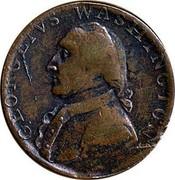 UK 1/2 Penny Georgivs Washington - North Wales ND (1792-1795)  GEORGEIVS WASHINGTON coin obverse