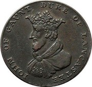 UK 1/2 Penny (Lincolnshire - Sleaford / John of Gaunt) IOHN OF GAUNT DUKE OF LANCASTER coin obverse