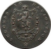 UK 1/2 Penny (Lincolnshire - Sleaford / John of Gaunt) SUCCESS TO NAVIGATION SIC DONEC coin reverse